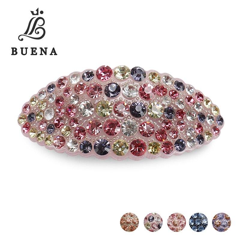 Buena quente nova alta qualidade jóias de cabelo acrílico áustria strass cristal cabelo barrette para grampos para cabelo feminino