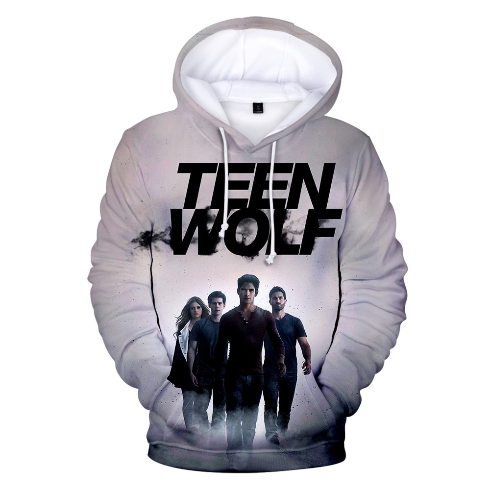 Suitable Print TV series TEEN WOLF 3D Hoodies Men women Fashion Harajuku Autumn Kids Streetwear Casual Mens pullovers