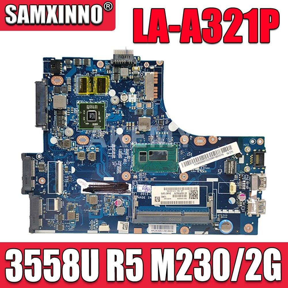 اللوحة الأم SAMXINNO لأجهزة Lenovo S410 LA-A321P Laotop اللوحة الأم LA-A321P مع وحدة المعالجة المركزية 3558U R5 M230 / 2G