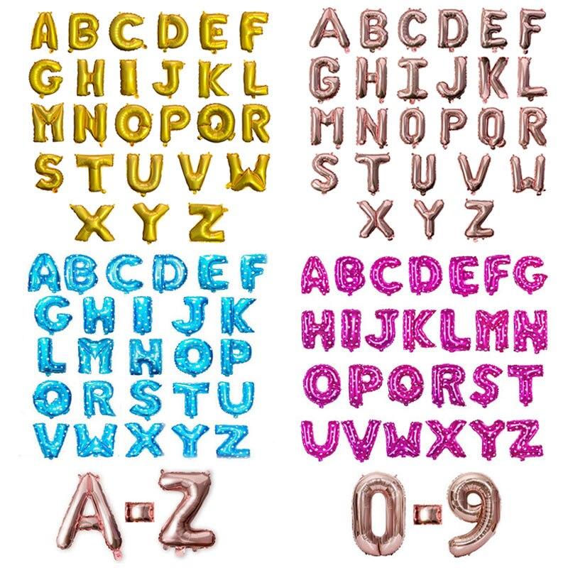 16 дюймов цифры имя золотой буквы воздушный шар свадебные шары День рождения украшения для взрослых детей Babyshower baloon