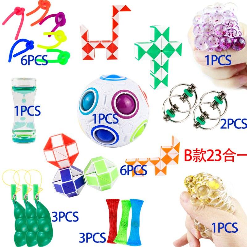 30pcs/set Antistress Toys Set Pop it Relief Autism Anxiety Relief Stress Push Pops Bubble Sensory Reliver Pop it  Fidget Toys enlarge