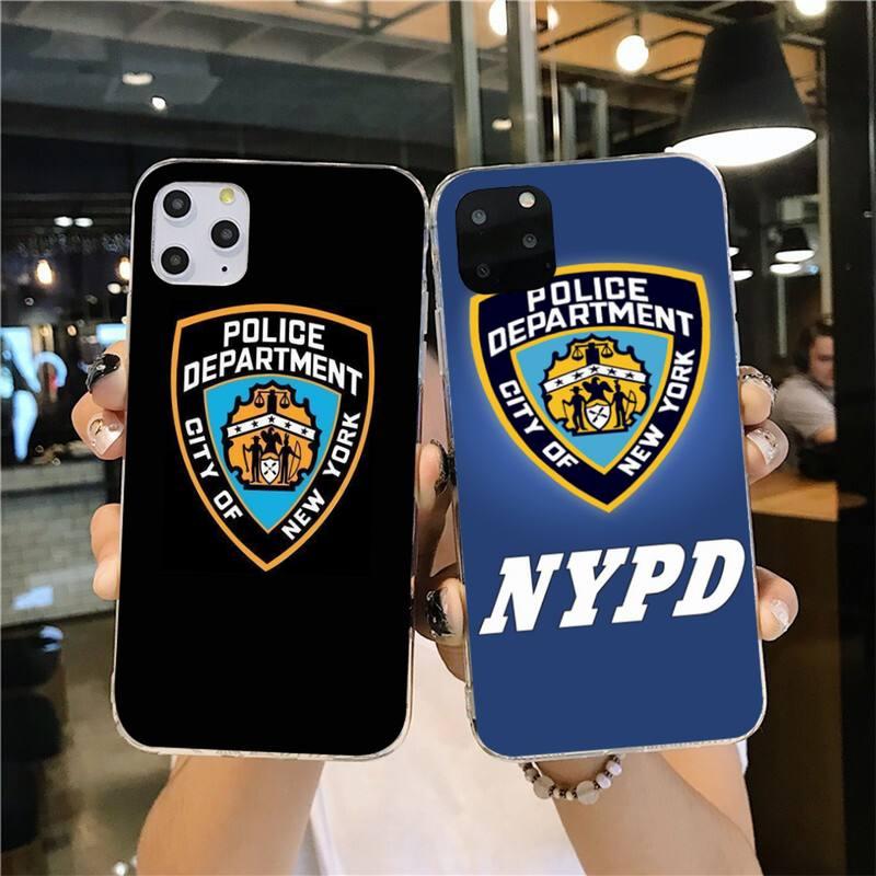 Милый чехол для телефона CUTEWANAN NYPD Bling для iPhone 11 pro XS MAX 8 7 6 6S Plus X 5S SE 2020 XR