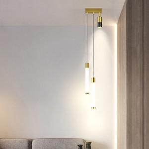 Modern Minimalist Bedside Pendant Lights Creativity Nordic Starry Lamp Luxury Bedroom Study Small Chandelier With Spotlight