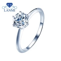 lanmi 925 sterling silver moissanite rings for young lady anniversary wholesale moq 10pieces one pack natural moissanite ring