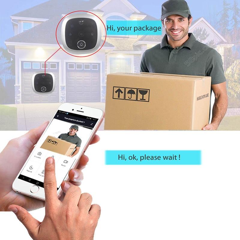 Tuya Peephole Video Doorbell Wifi Door Viewer Camera Intercom 4.3 Inch LCD Digital Home Security Eye Monitor Motion Detection enlarge