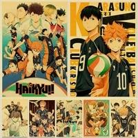 Affiche de dessin anime japonais Haikyuu  volley-ball garcon  peinture artistique sur toile  tableau pour decor de maison  peinture Cuadros