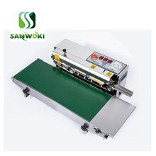 continous sealing machine Heavy duty add width Continuous film sealer machine heat sealer for aluminum foil plastic bags