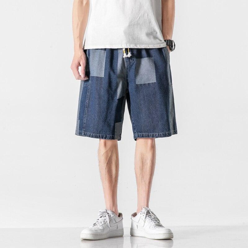 Мужские джинсовые шорты 2021 летние модные повседневные брендовые уличная хлопок джинсовые мешковатые брюки для девочек Harajuku мужские шорты ...