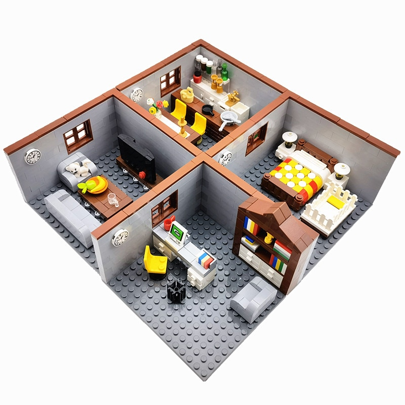 City House Building Blocks Toys for Children Boy Girl DIY Gifts MOC Bricks Bedroom Living Room Furniture Model Juguetes Bloques