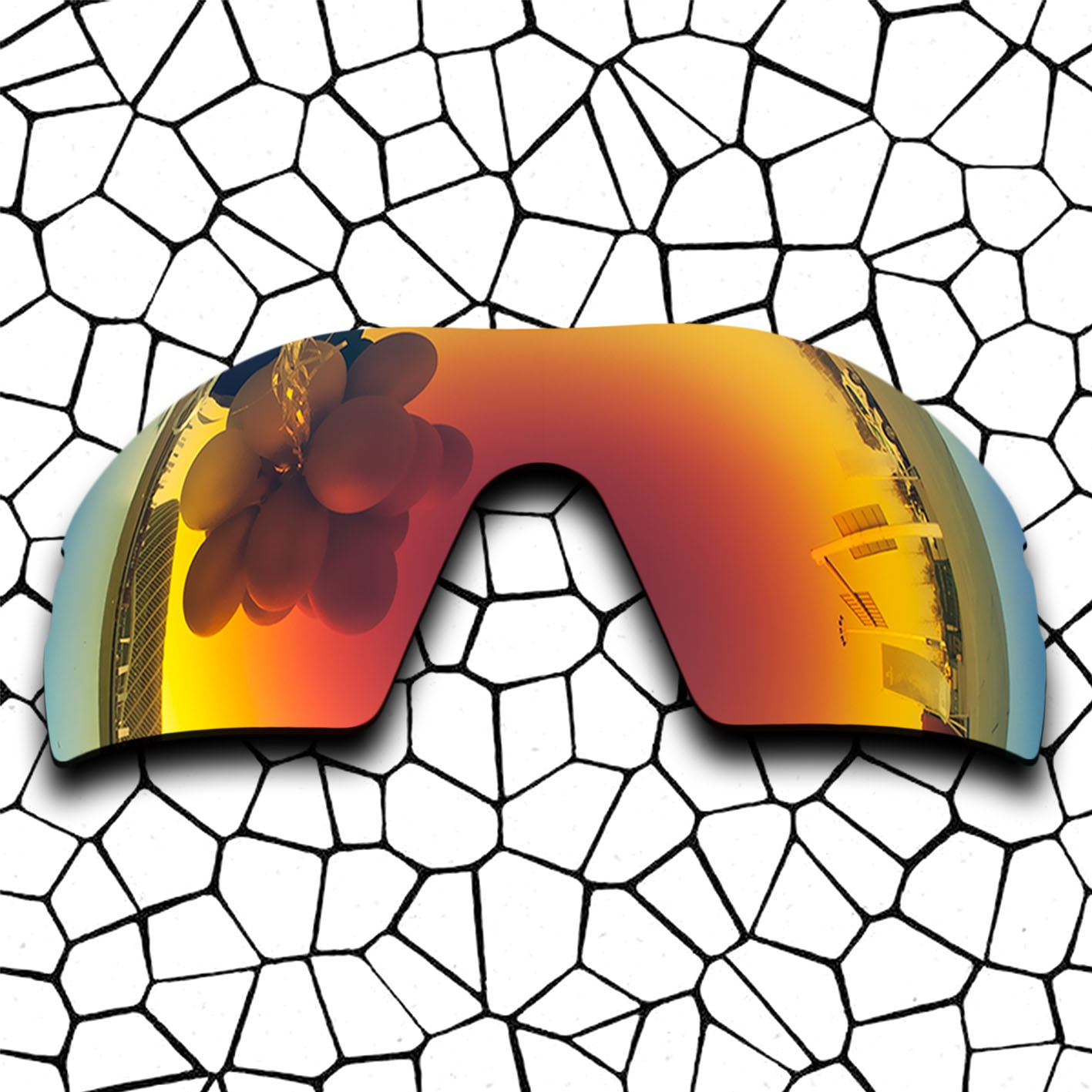 Polarized Replacement Lense For-Oakley RADAR PITCH Sunglasses Frame True Color Mirrored Coating - Fire Red Color Options