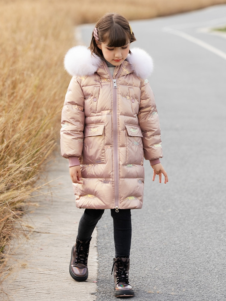 High Quality Girls Thicken Warm Winter Down Coat Outerwear Overcoat Parkas Teenager Windbreaker Child Clothing enlarge