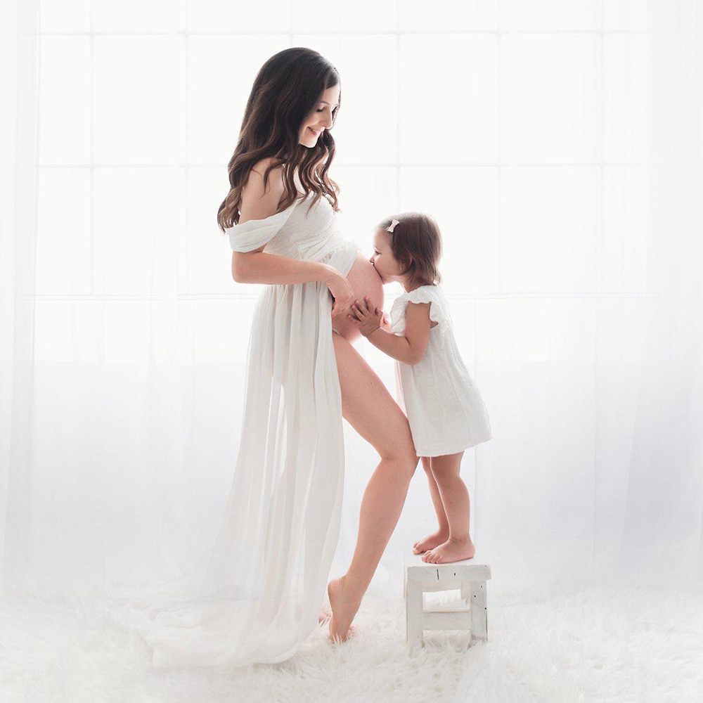 Sexy Maternity Dresses For Photo Shoot Chiffon Pregnancy Dress Photography Prop Maxi Gown Dresses For Pregnant Women Clothes D30 enlarge