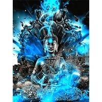 Peinture de diamant de bouddha religieux 5D bricolage complet de points de croix  perceuse complete  broderie carree  mosaique dart  image  strass  decor de maison