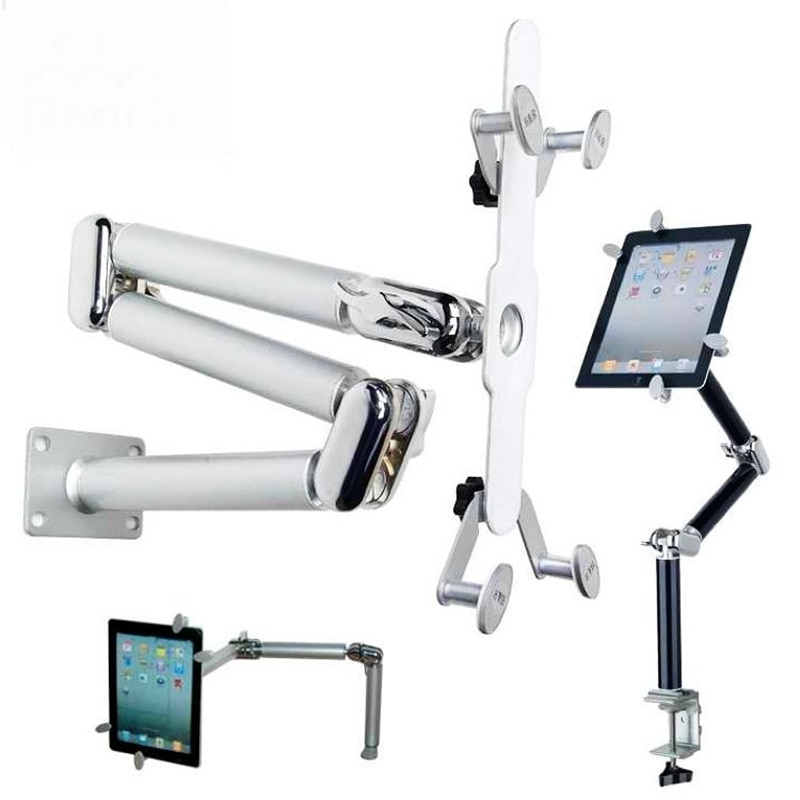 Multifunctional folding bracket for tablet computers and cars, 360 degree rotating aluminum wall mount, suitable for 7-11 inch enlarge