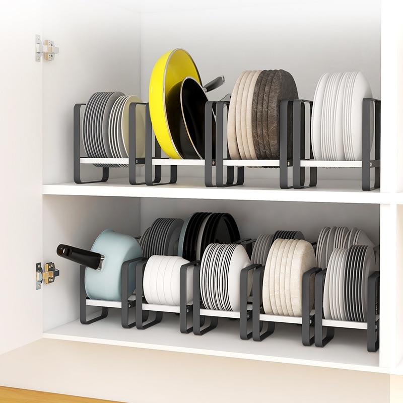 Estantes de almacenamiento para armario de cocina, organizador multifunción para platos, picar, cuencos y Vasos