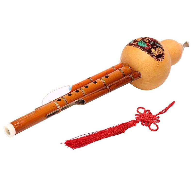 Artesanal de bambu chinês hulusi gourd cucurbit flauta étnica instrumento musical chave de c com caso para iniciantes amantes da música