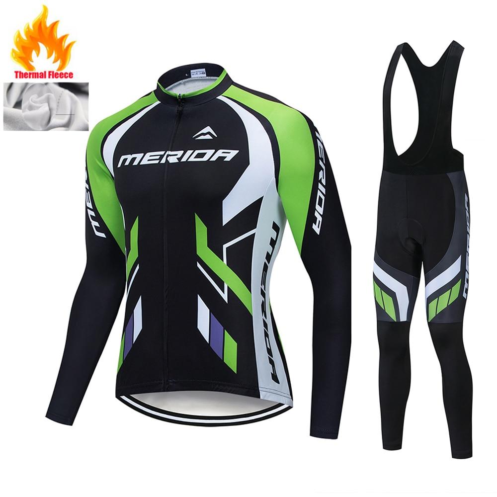 Equipo profesional de Invierno de lana térmica, conjunto de camisetas de Ciclismo,...