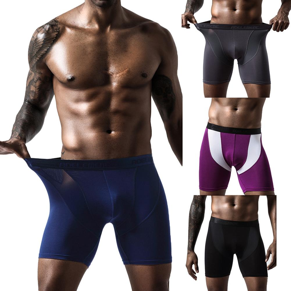 Men Quick Dry Elastic Training Fitness Trunks Compression Exercise Sports Shorts Elastic Quick Drying Sweat Absorbent Shorts modish quick dry stripes design boxers elastic waist swimming trunks for men