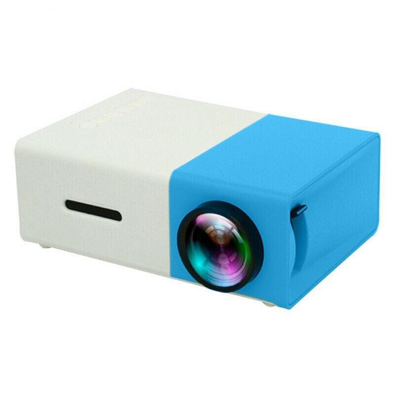 Mini proyector YG300 400-600 lúmenes 30000 horas soporte de vida de lámpara LED AV / CVBS / HDMI / USB interfaz Multi proyector Beamer