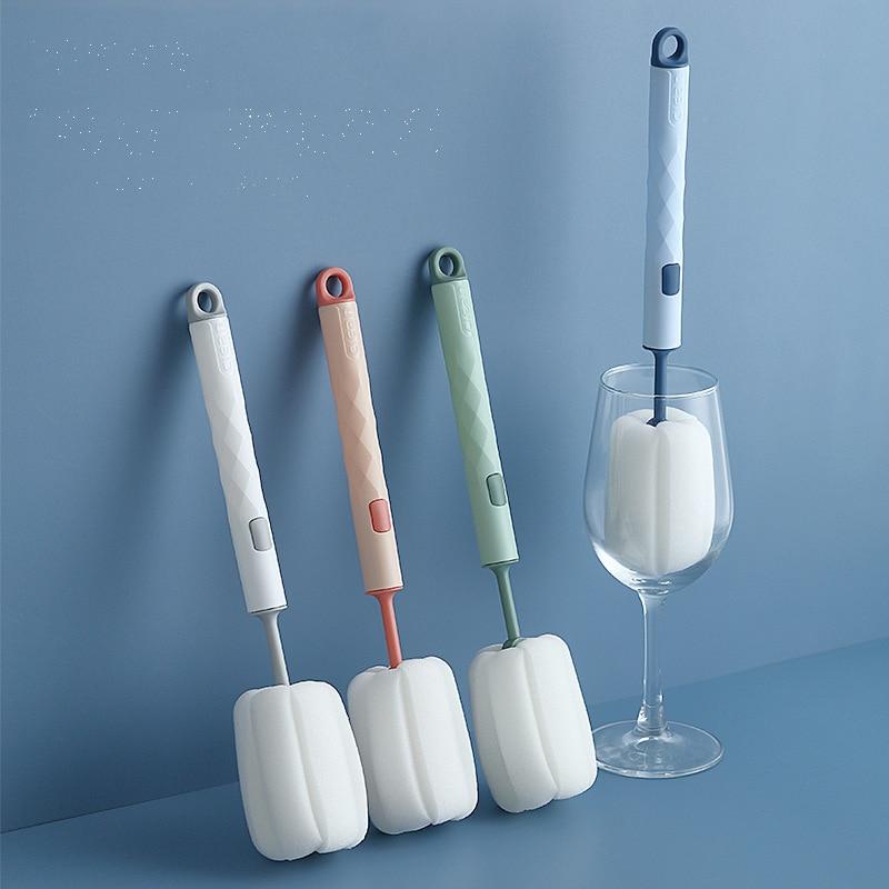 2 шт./компл. губчатая щетка, кухонные инструменты для уборки, бытовые щетки для мытья стеклянных бутылок, очиститель, кухонные аксессуары