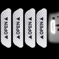 4pcs car door safety anti collision warning reflective stickers open stickers long distance reflective paper decorative stickers