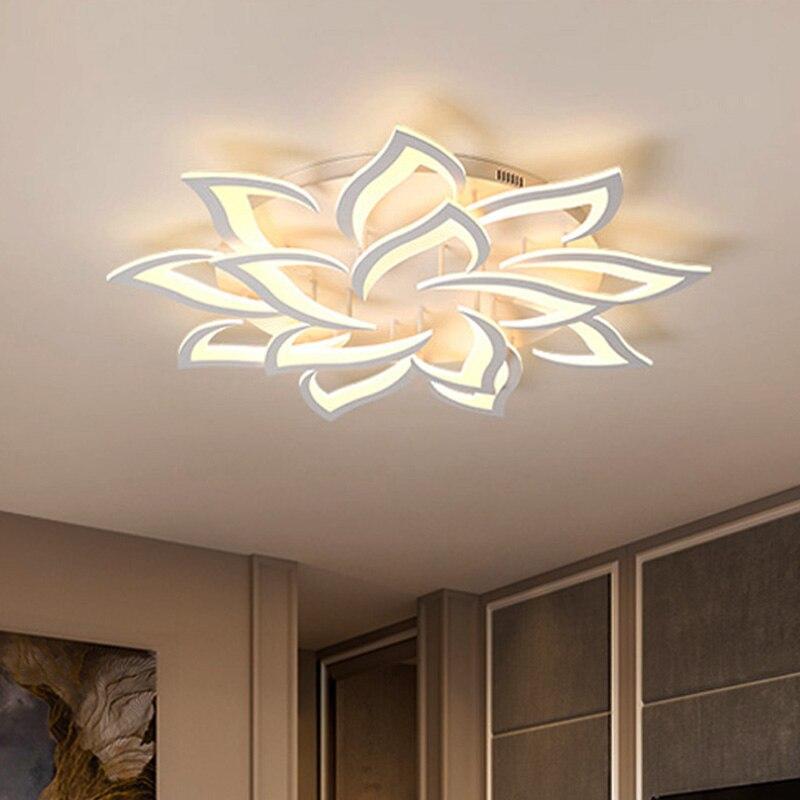 Luces de techo LED modernas, accesorios para comedor y comedor, lámpara de decoración para el hogar, iluminación para dormitorio, restaurante, Lustre regulable