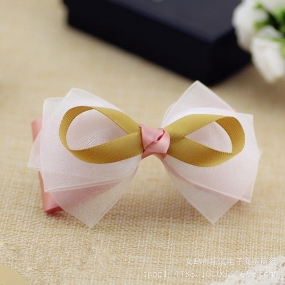 Korean jewelry wholesale fashion small navy style hairpin British style bow hair clip ribbon duckbill clip hair ring spring clip