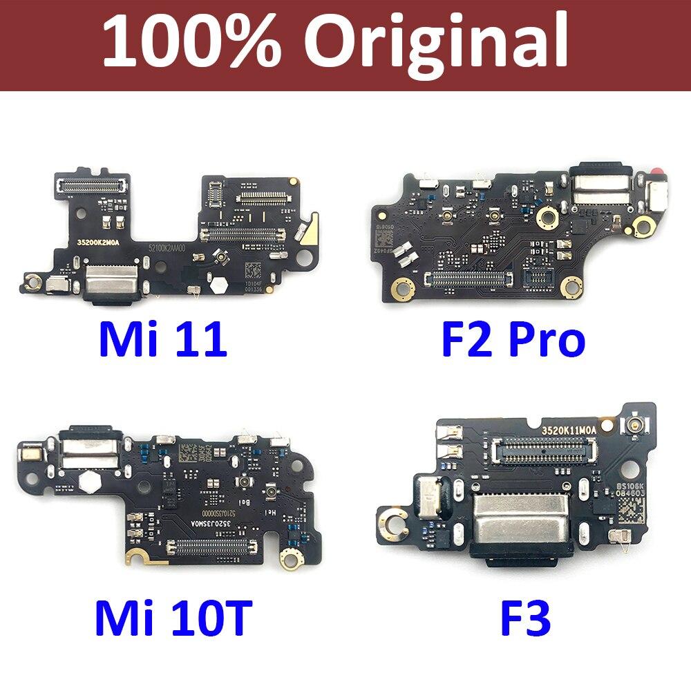 الأصلي USB ميناء شاحن حوض موصل شحن مجلس فليكس كابل ميكروفون ل شاومي Mi F2 برو Poco F3 Mi 11 10T Mi10T برو