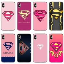 Pink Superwoman supermom For Samsung Galaxy A10 A30 A40 A50 A60 A70 A6s A8 A9s J4 J6 Prime Plus 2018 cover case