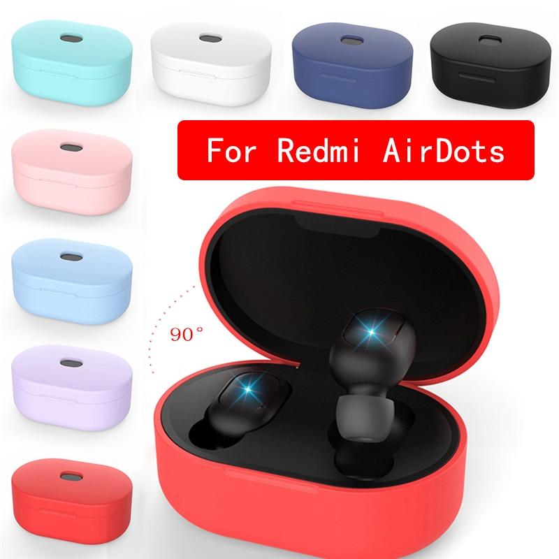 Силиконовый чехол для наушников Xiaomi MI Redmi AirDots, чехол для наушников TWS, Bluetooth наушники, беспроводная гарнитура, оболочка
