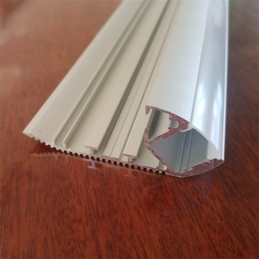 Free Shipping Hot Selling floor  profile with milky  or clear cover and ,caps and clips very high quality aluminum enlarge