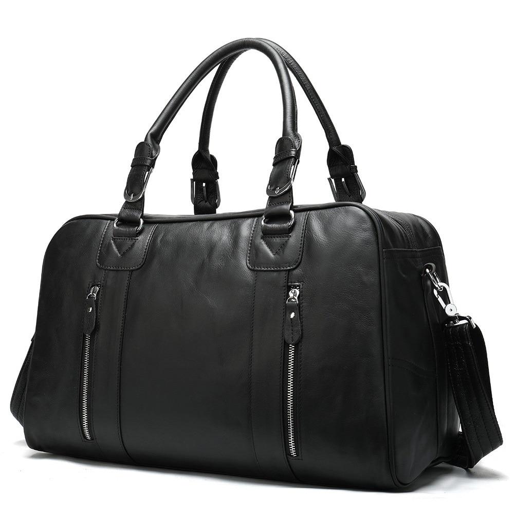 Weekend Outdoor Travel Bag Genuine Leather Vintage Male Duffel Bag Large Capacity Business Bag Fitne