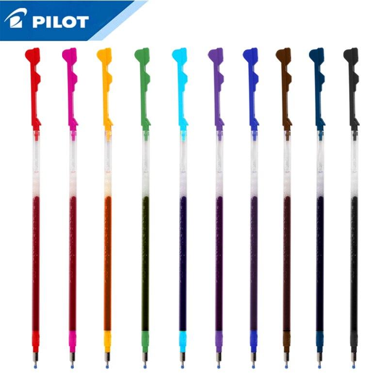 6 sztuk/partia Pilot hi-tec-c Coleto Gel Multi wkład do pióra-0.3/0.4/0.5mm czarny/niebieski/czerwony/15 kolory dostępne LHKRF-10C4