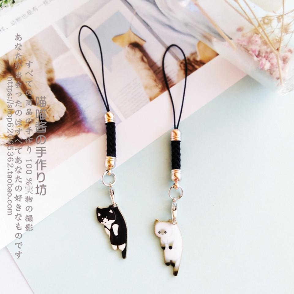 Cute Cat Girls Smart Phone Strap Lanyards for IPhone/Samsung/Xiaomi/Huawei Mobile Phone Strap Key Ha
