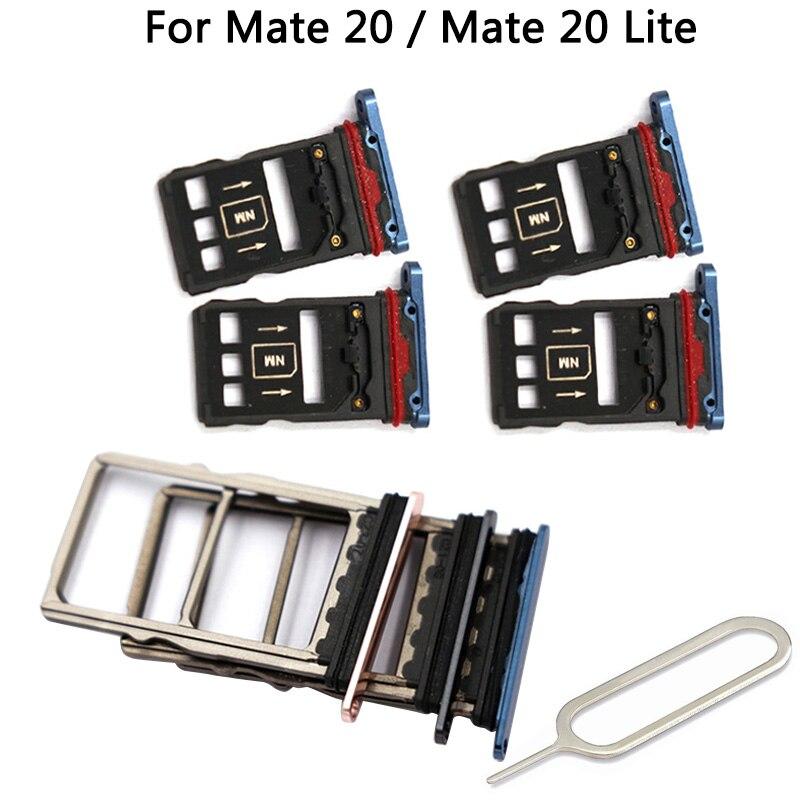 Оригинальный лоток для сим-карты Mate 20 для HUAWEI Mate 20 Pro / Mate 20 / Mate 20 Lite микро слот для sim-карты адаптеры