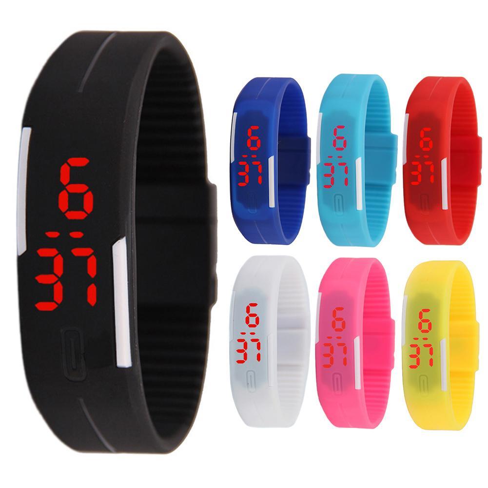 Screen Touch Silicone Mini Luminous Electronic Couple Wristwatch Bracelet Gift Fashion watch for lov