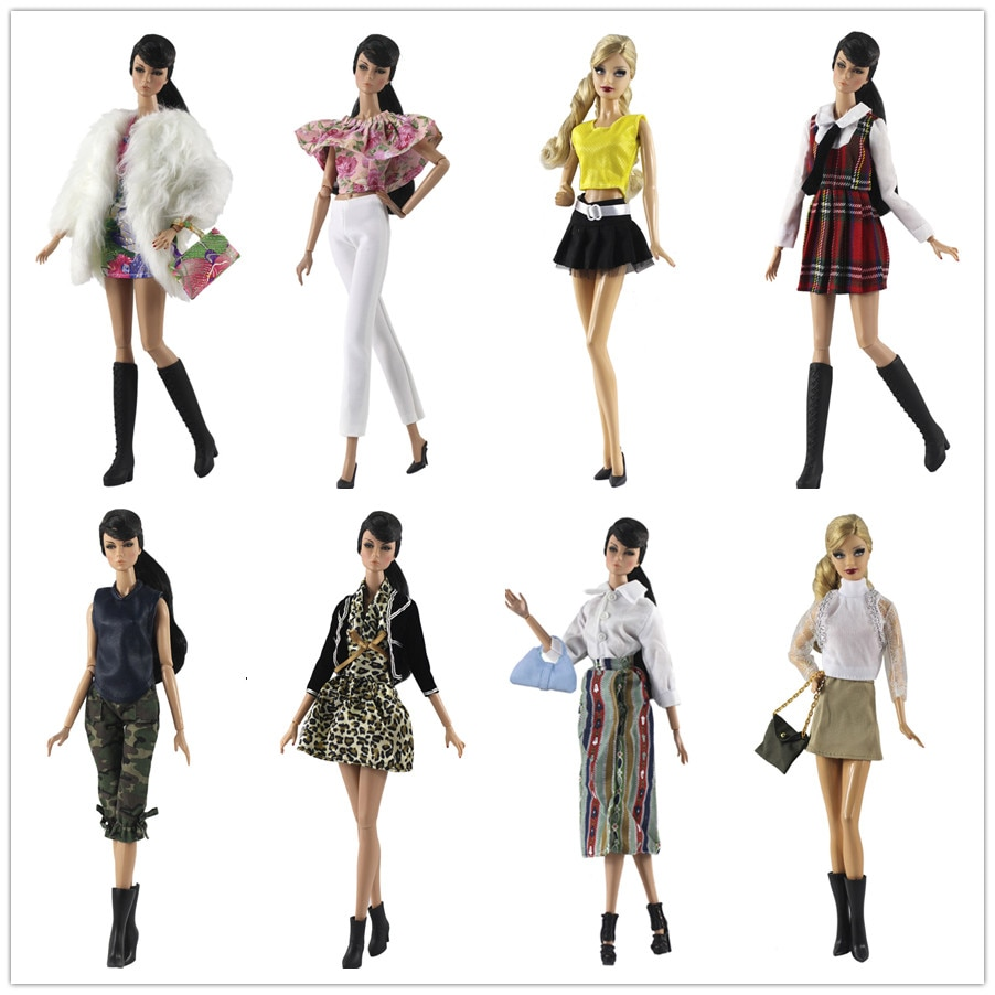 Conjunto de ropa/capa superior + falda bolsa para pantalones para 1/6 BJD Xinyi FR muñeca ST Barbie/ropa de muñeca bebé regalo/2020 nuevo