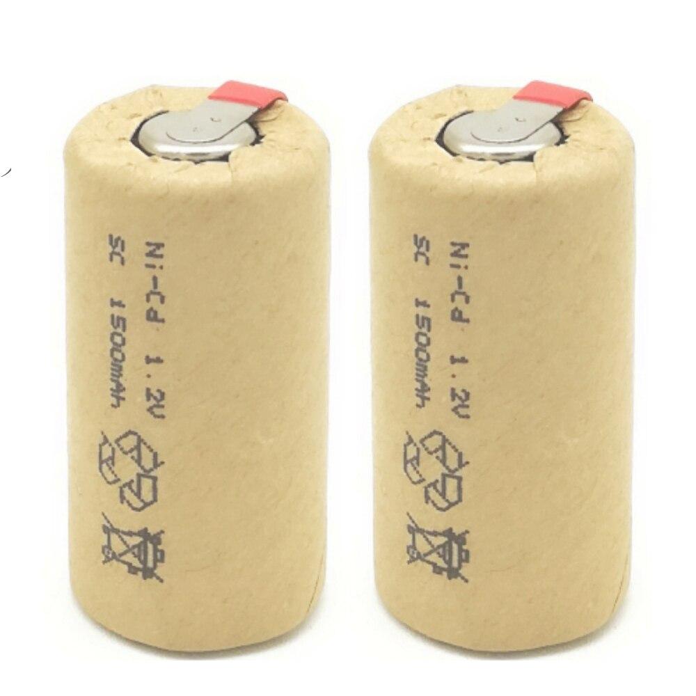 Ni-CD 1,2 в SC1500mAh Sub C высокомощная 10C перезаряжаемая батарея для раций, электроинструментов, Беспроводная электрическая дрель/Ni Cd 1,2 V
