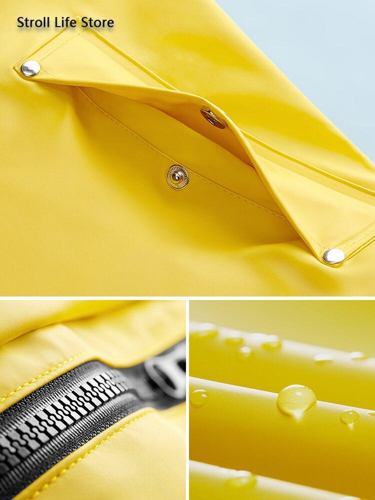 Yellow Women Long Rain Coat Men's Waterproof Raincoat Outdoor Rain Poncho Hiking Adult Rain Jacket Windbreaker Impermeable Gift enlarge