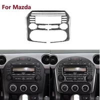 fit for mazda mx 5 miata cd radio panel navigation display frame carbon fiber cover sticker 2009 15 mx5 roadster car accessories