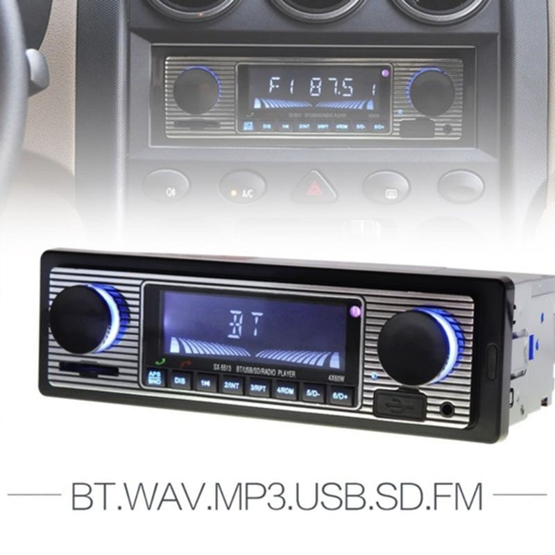 Coche Multimedia Digital FM Radio Estéreo reproductor Bluetooth USB MMC SD lector de tarjeta MP3 AUX WMA WAV Radio reproductor de Radio para coche