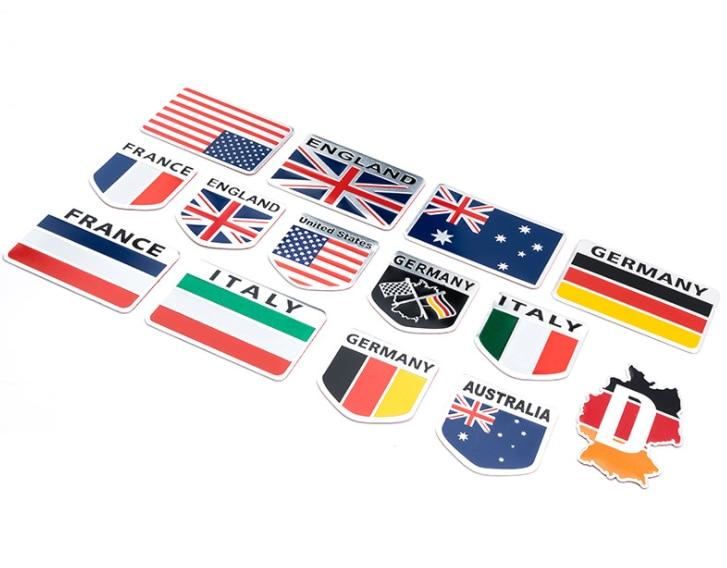by DHL or Fedex 200pcs Metal 3D Germany German Flag Badge Emblem Deutsch Car Sticker Decal Grille Bumper Window Body Decoration