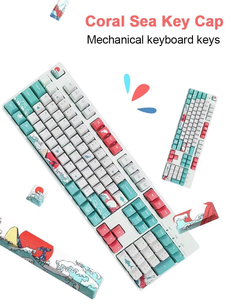 جديد 108 غطاء مفاتيح XDA الشخصي PBT صبغ التسامي أنماط مختلفة لوحة المفاتيح أغطية مفاتيح للوحة المفاتيح الميكانيكية ملحقات الكمبيوتر