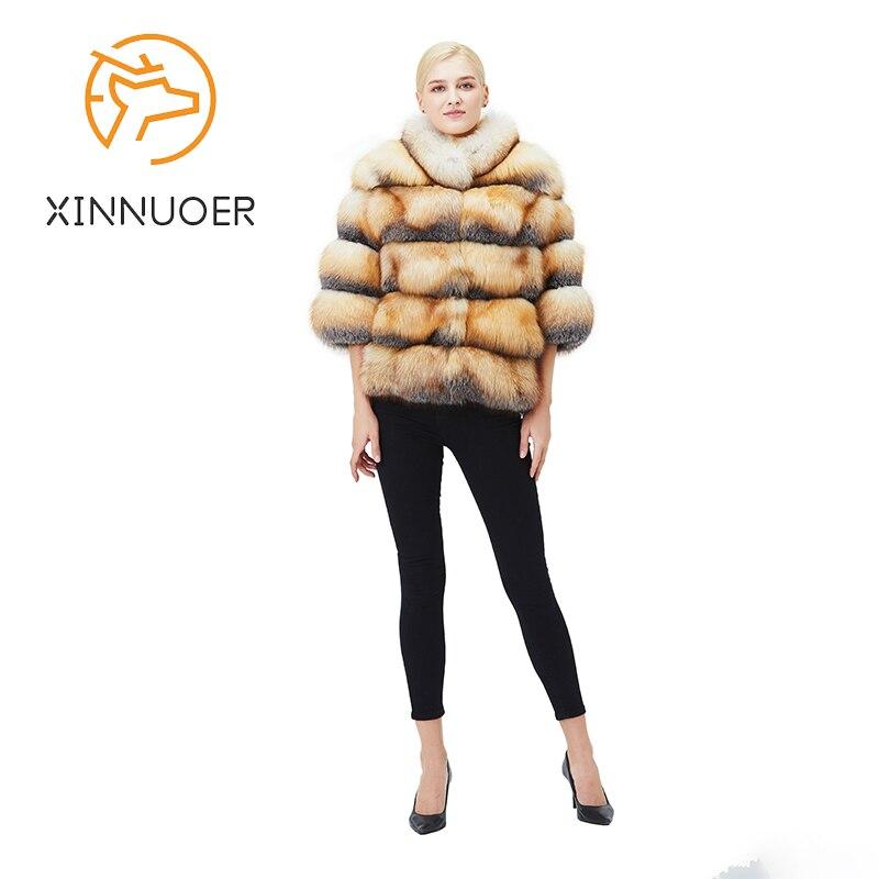 الطبيعية الثعلب الفراء معطف الشتاء المرأة سترة الموضة الدافئة عادية فاخرة لا أحد الفراء سترة جديد 2021