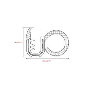 Image 3 - Звукоизоляционная резиновая уплотнительная полоса для автомобиля, 2x80 см, Накладка для B столба, шумоизоляция, ветрозащитная кромка двери, резиновые уплотнительные полосы, Стайлинг автомобиля