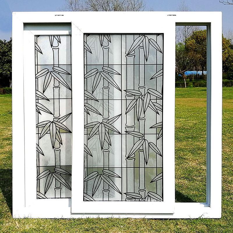 Película de vidrio de 45X200cm aislamiento térmico color transparente esmerilado autoadhesivo pegatinas de vidrio balcón puerta corredera de baño