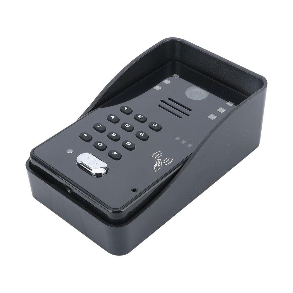 "7"" LCD RFID Password Video Door Phone Intercom System Kit + Electric Strike Lock + Wireless Remote Control unlock enlarge"