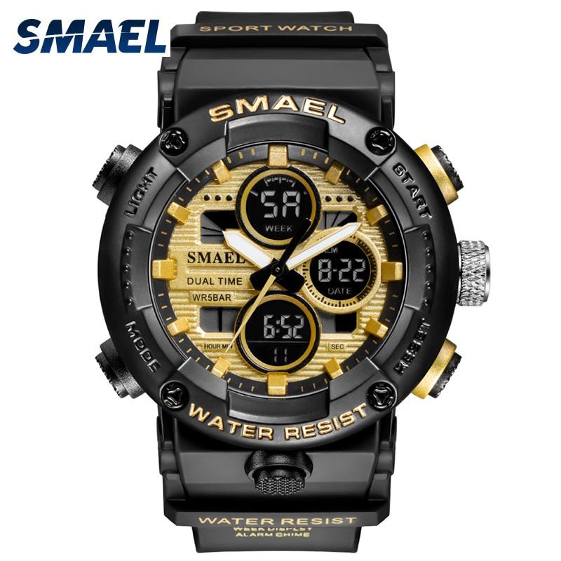 Sport Watches Men Military Watch Digital LED Light 50M Waterproof Wristwatch Stopwatch Clock For Male 8038 Quartz Watch Sports