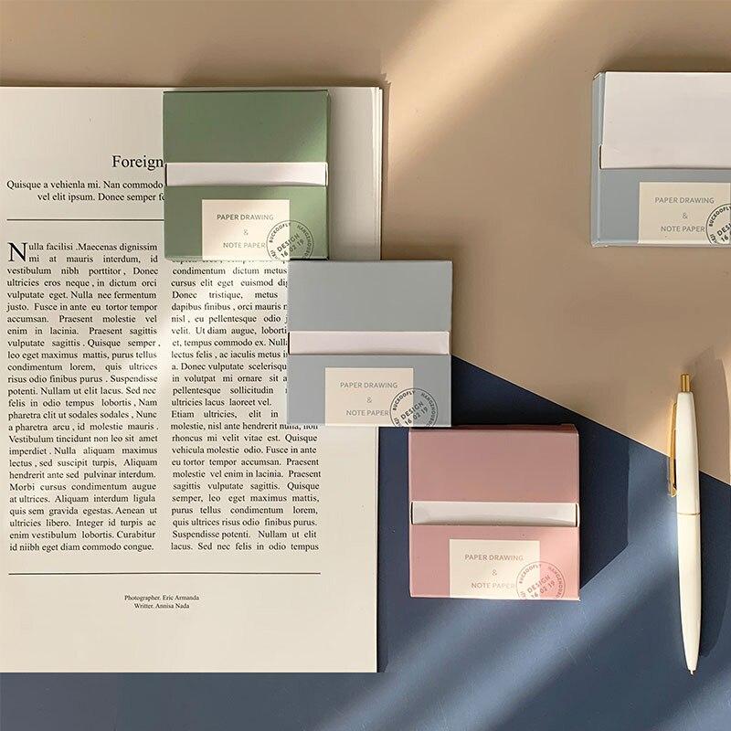 80 Sheets/Pack 76Mm * 76Mm Creative Memo Pad Ins Stijl Eenvoudige Sticky Notes Bericht Plan Note papier School Kantoorbenodigdheden Supply