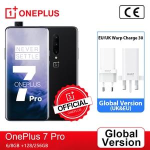 Глобальная версия OnePlus 7 Pro Snapdragon 855 OnePlus 7T Pro Snapdragon 855 плюс, смартфон, четыре ядра, 6,67 ''amoled 48MP тройной